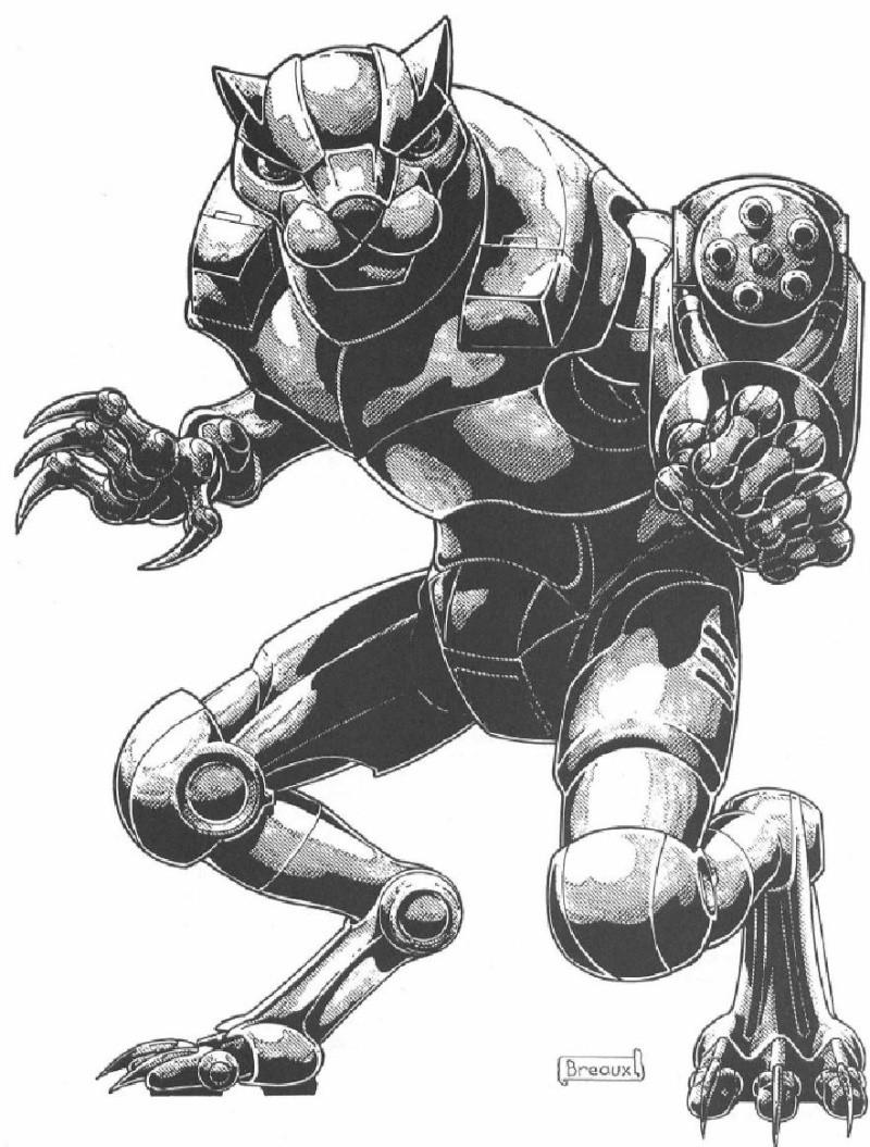 Combat Robot Drawing Aquirre Heavy Combat Robot