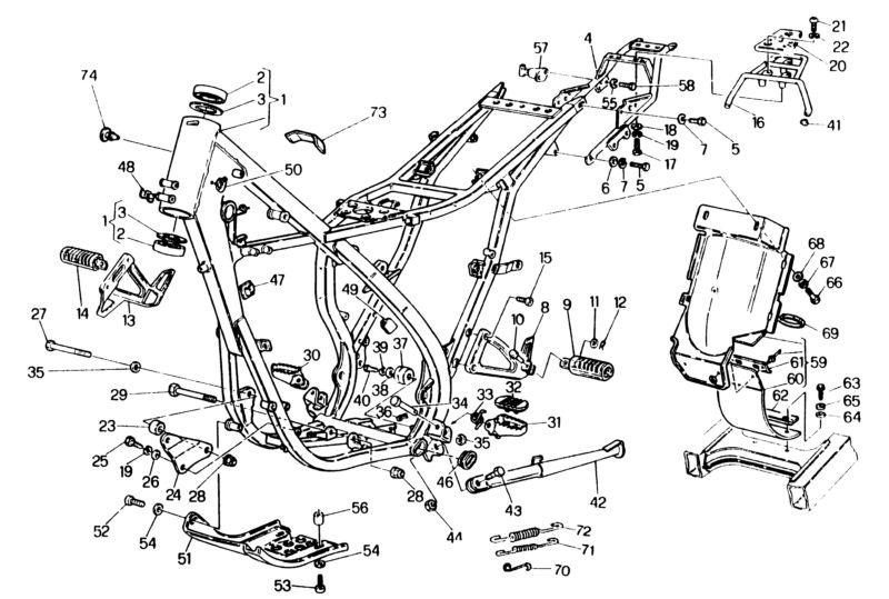 Vue eclatee moteur boite d une yamaha tzr 50 - Vue eclatee moteur ...