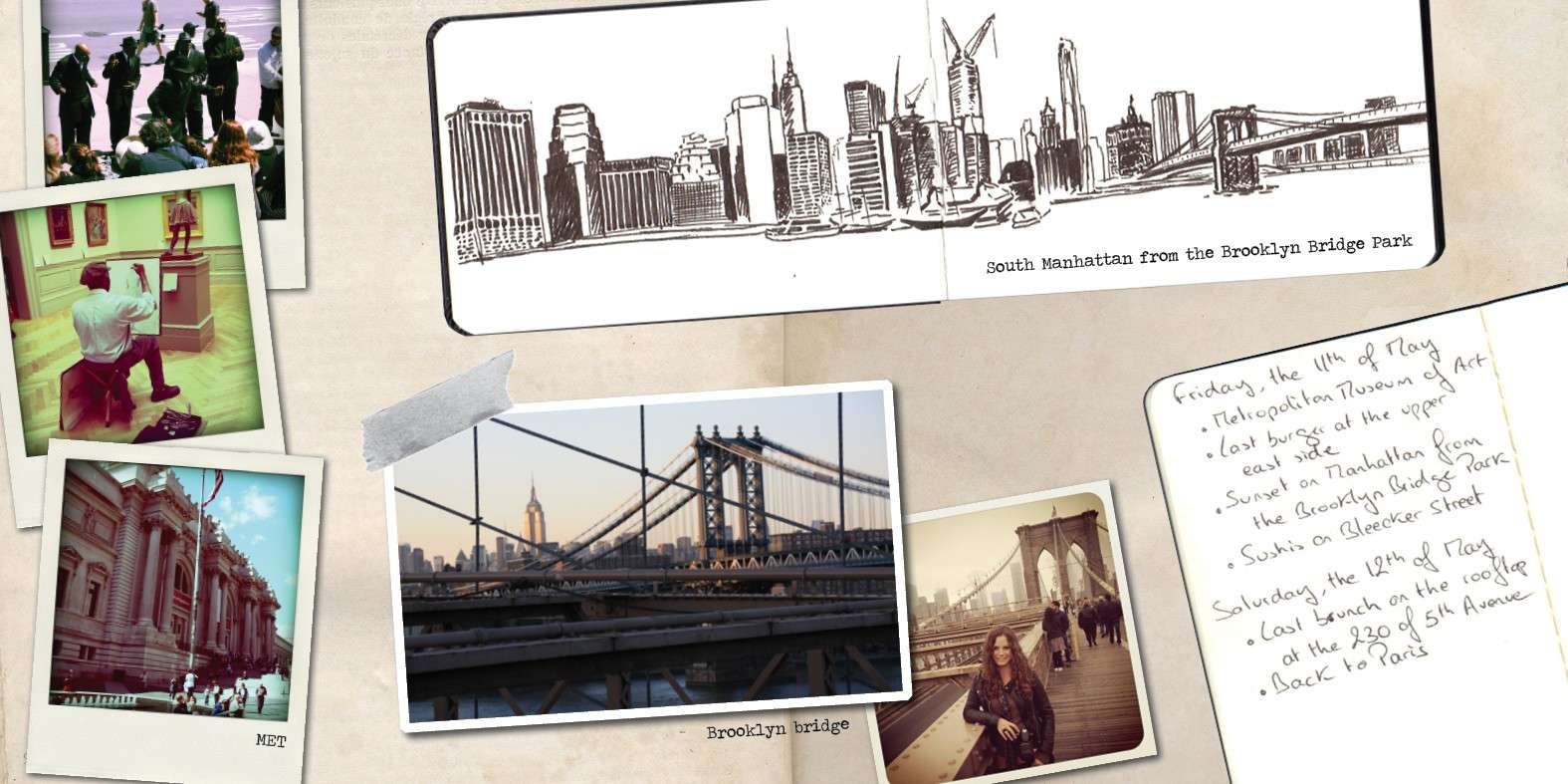 portrait de claire et de son fabuleux carnet de voyage sur new york. Black Bedroom Furniture Sets. Home Design Ideas