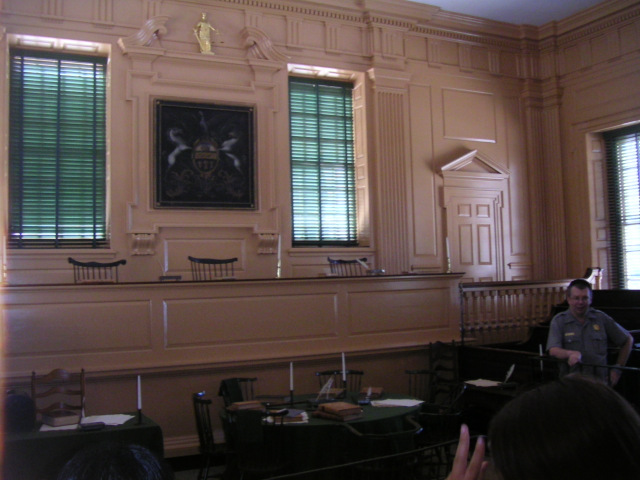 La salle où a été signé la Déclaration d'Indépendance de la Constitution Américaine