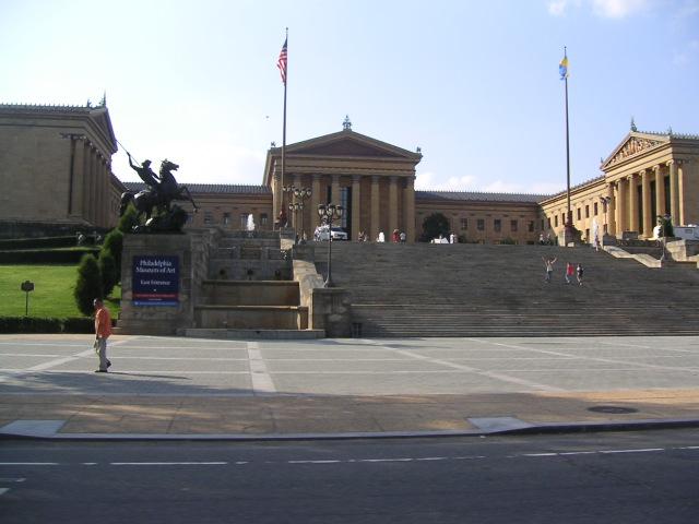 Les marches du Musée d'Art de Philadelphie Rocky