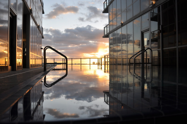 casa moderna hotel & spa piscine terrasse lever de soleil