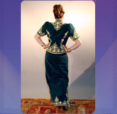 حبيباتي اللباس التقليدي للعروس الجزائرية (الكاراكو)
