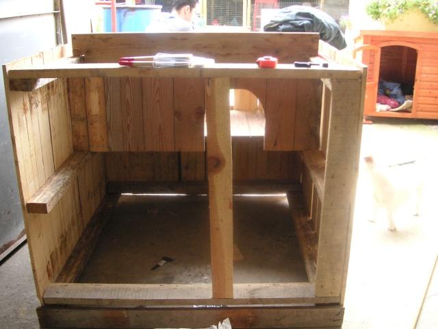 Poulailler pour 60 pour le bien tre de nos poulettes - Plan niche chien palette ...