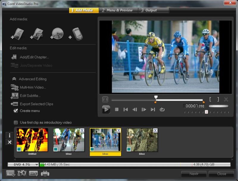 ����� ����� ������ ������� Corel VideoStudio Pro X5 ����� ������
