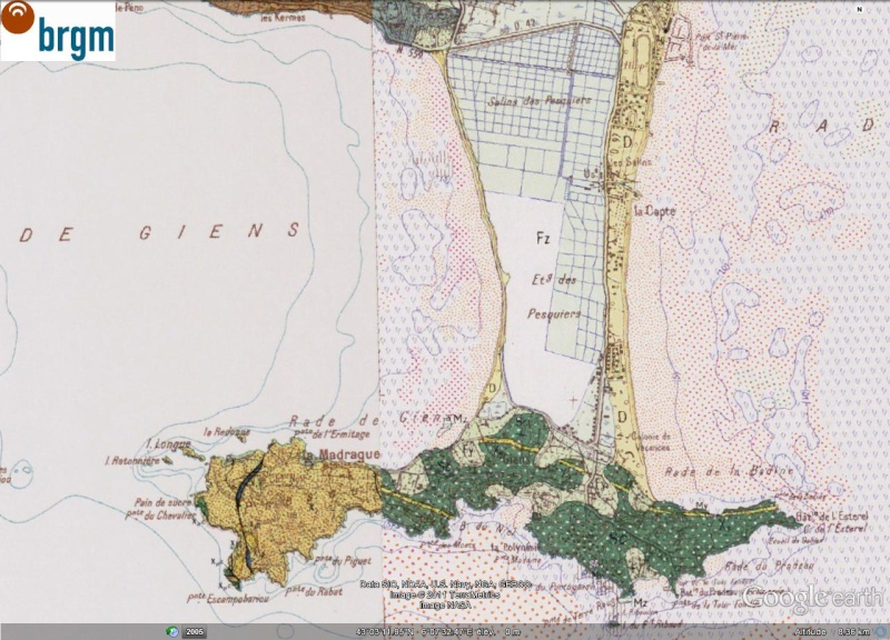 Carte Marine Presqu'ile de Giens Sur la Presqu'ile de Giens