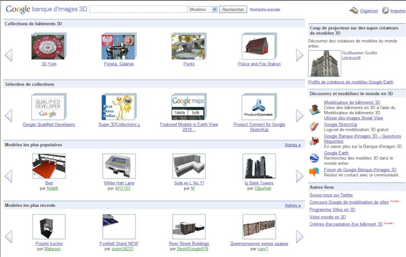 galerie et banque d 39 images 3d pour google earth. Black Bedroom Furniture Sets. Home Design Ideas