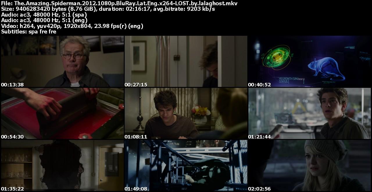 The Amazing Spider-Man (2012)(1080p)(Latino/Ing)(Putlocker