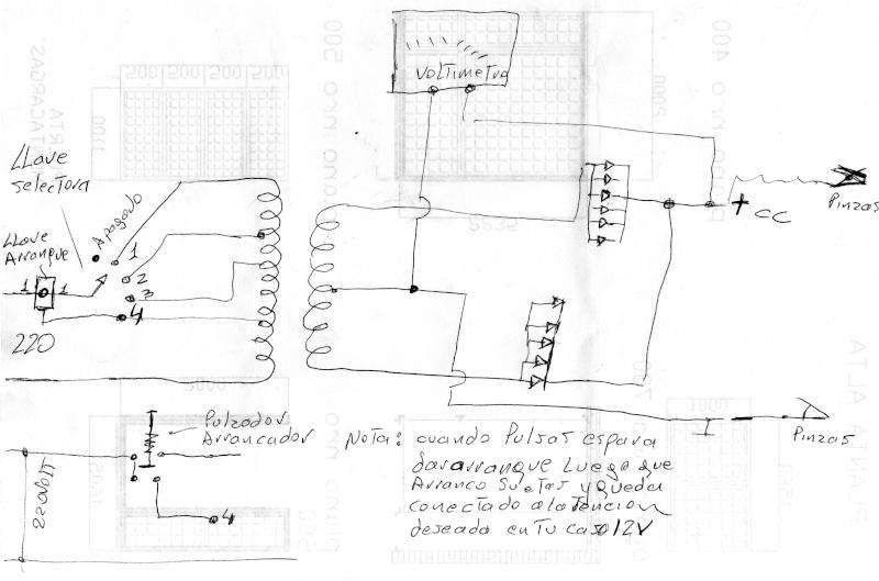esquema fabricacion regulador tension: