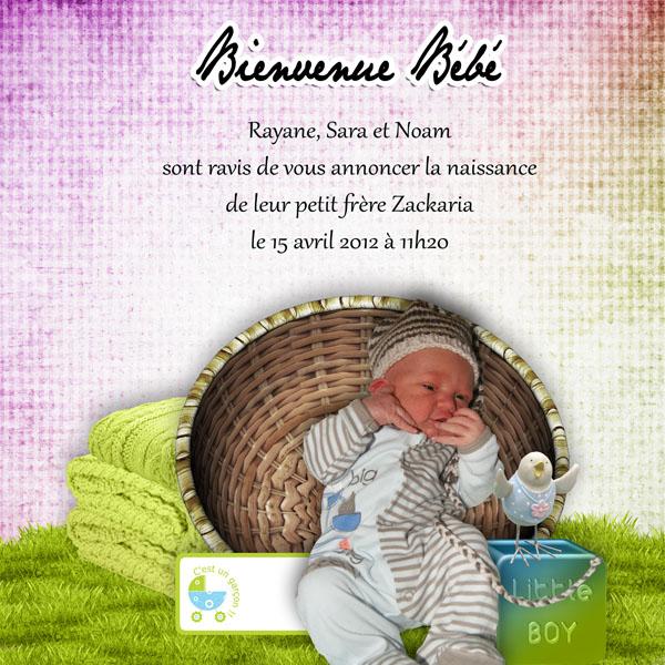 kit bienvenue bébé simplette page sarayane