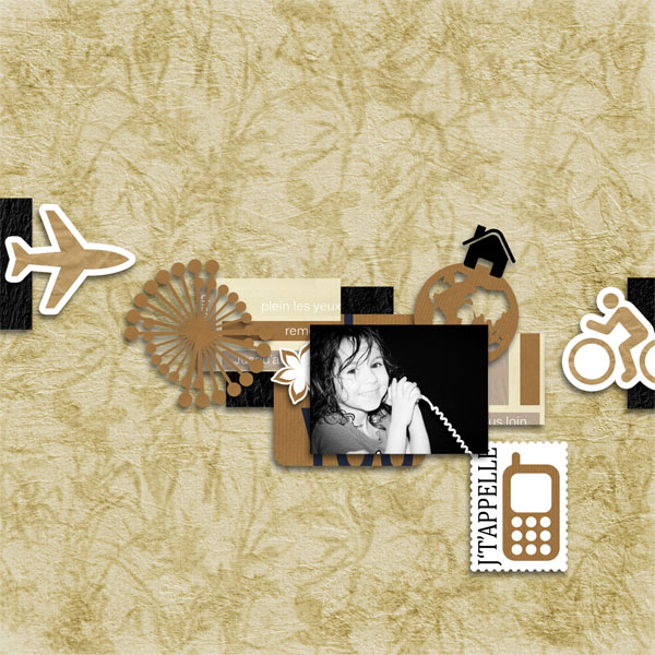 kit memories in kraft papers simplette page sarayane