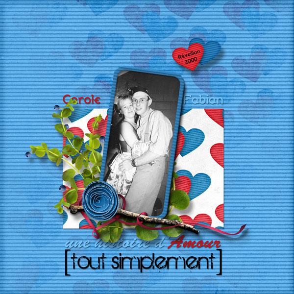 kit une histoire d'amour tout simplement simplette page cocotounette
