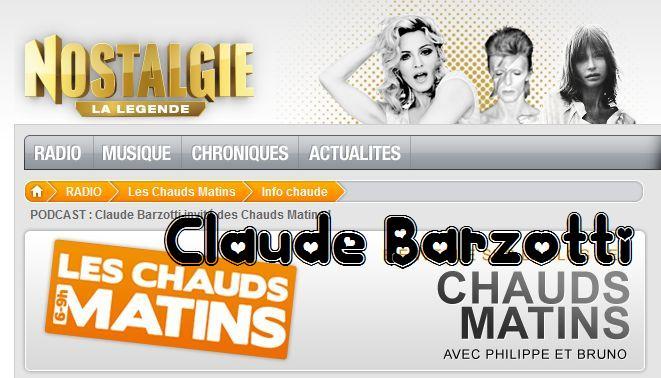 Blog de barzotti83 : Rikounet 83, Claude Barzotti en direct sur Nostalgie vendredi 2 décembre 2011