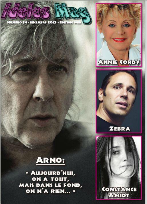 interview Annie Cordy sur Idoles Mag numéro 34 de décembre 2012