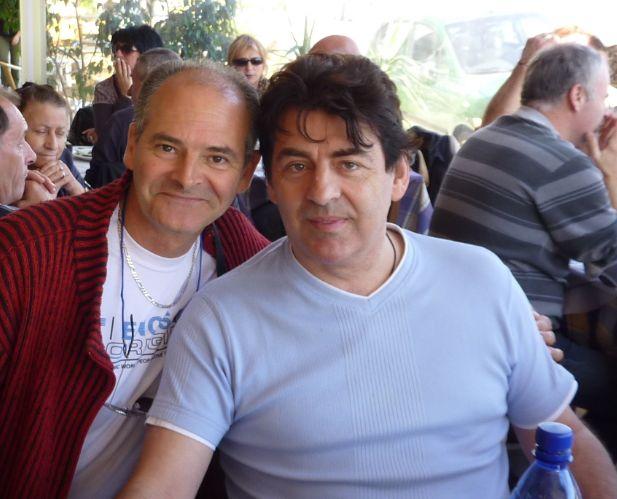 Claude Barzotti et moi à Zante