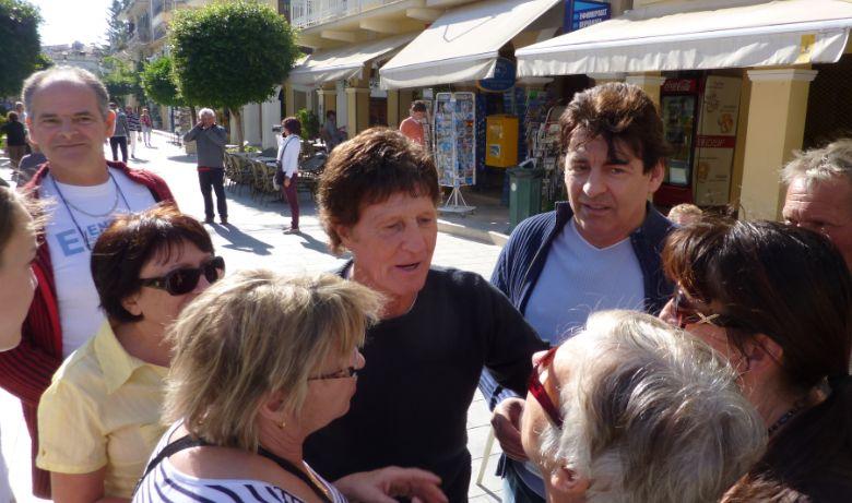 Claude barzotti et Michel Orso sur l'ile deZantes