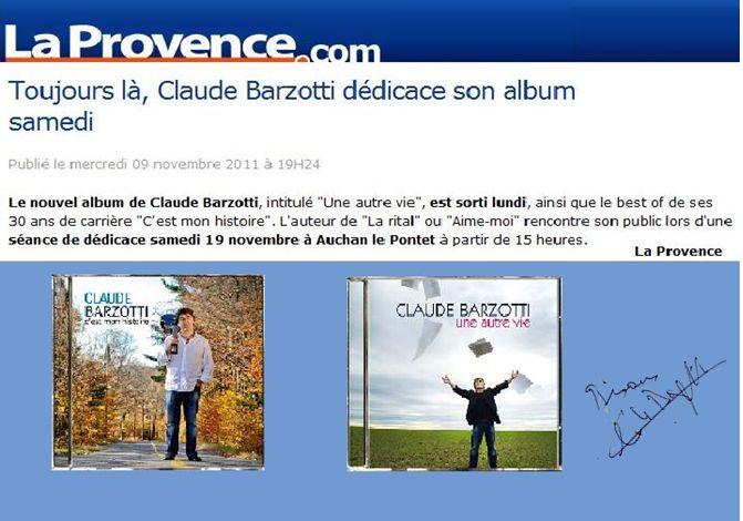 Blog de barzotti83 : Rikounet 83, Claude Barzotti france Dimanche no