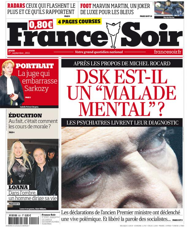 France soir jeudi 1er septembre 2011