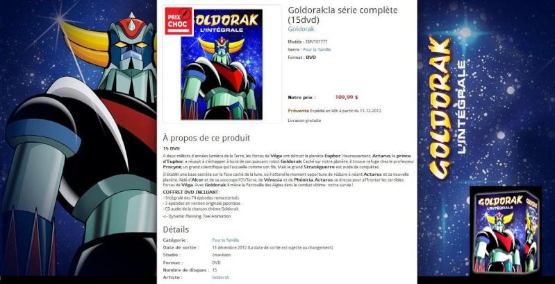 Blog de barzotti83 : Rikounet 83, Goldorak INTEGRALE en 15 DVD au Canada