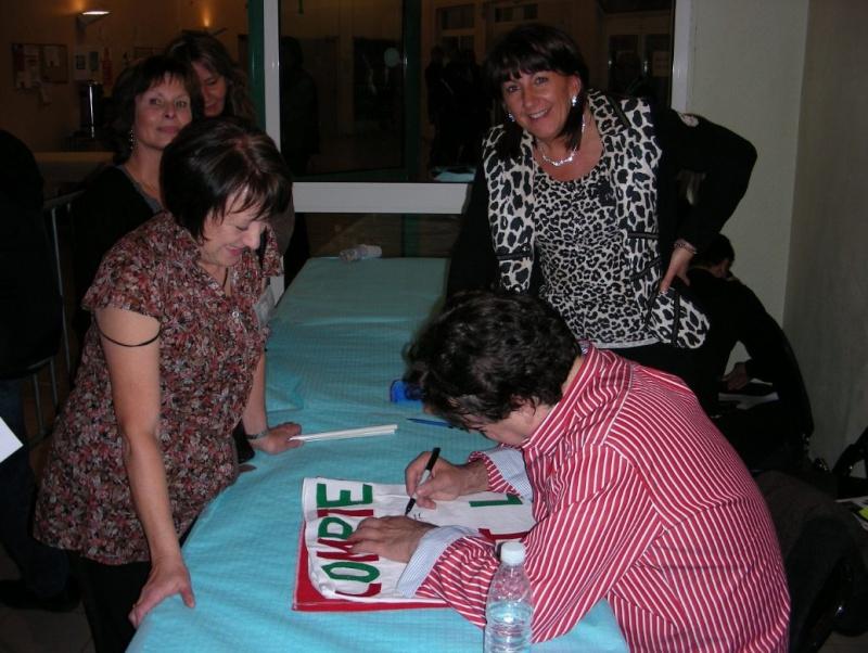 Brigitte, Francette, Valérie et Claude