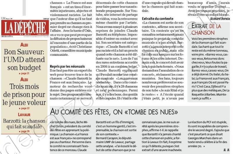 suite article presse La dépêche Tarn