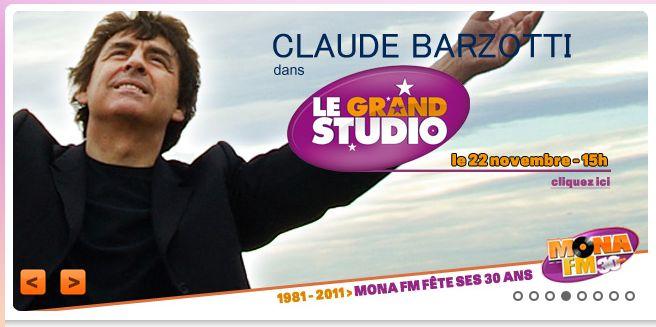 Blog de barzotti83 : Rikounet 83, Mona FM Claude Barzotti au grand studio pour un concert privé