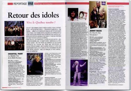 le retour de nos idoles article platine N°182 juil naout 2011