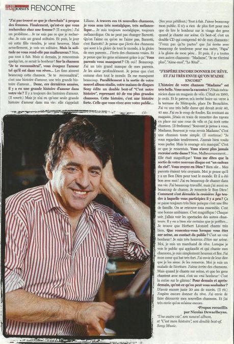 Blog de barzotti83 : Rikounet 83, Article de presse LE SOIR MAG Belgique interview Claude BARZOTTI
