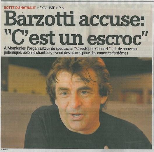 Sambre et Meuse article de presse