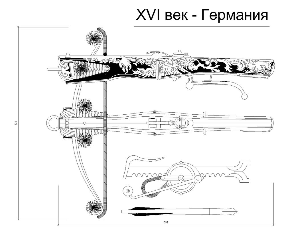 crossbow mechanism diagram