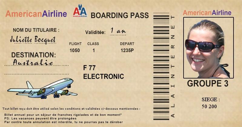 Demande de faux billet d 39 avion - Salon creation et savoir faire billet gratuit ...