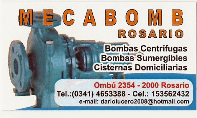 M E C A B O M B   -   Rosario - Bombas, Servicios y Asistencias.