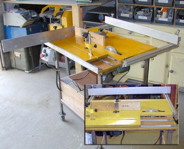Scie de chantier multifonction flip - Defonceuse sous table scheppach hf50 ...