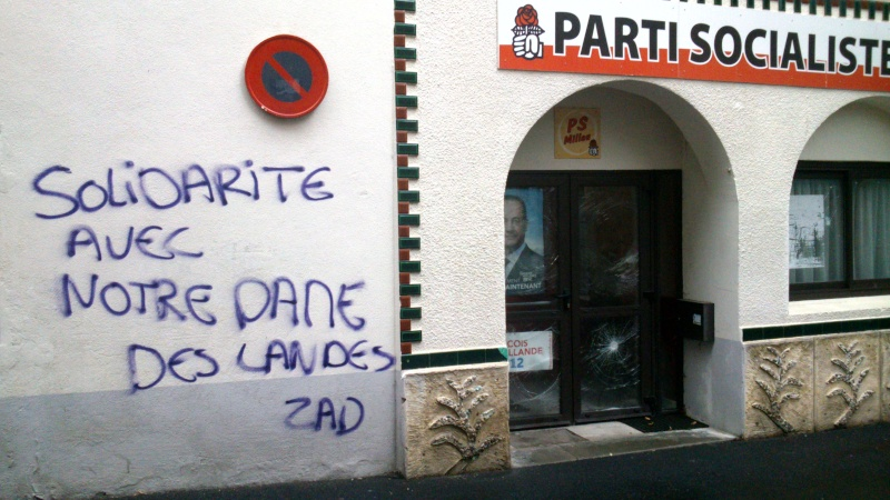 Le local du PS à Millau ...