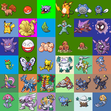 The DS Style 64x64 Pokmon Sprite Resource COMPLETED