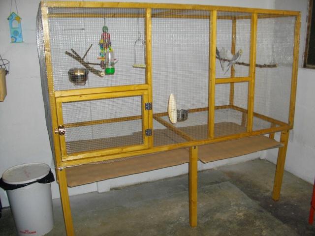 Voliere en bois faite maison chris8 for Fabriquer une treille en bois