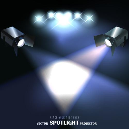 استوكات للفوتوشوب spotlight Stock Vector