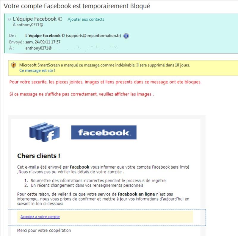 votre compte facebook est temporairement bloqu. Black Bedroom Furniture Sets. Home Design Ideas