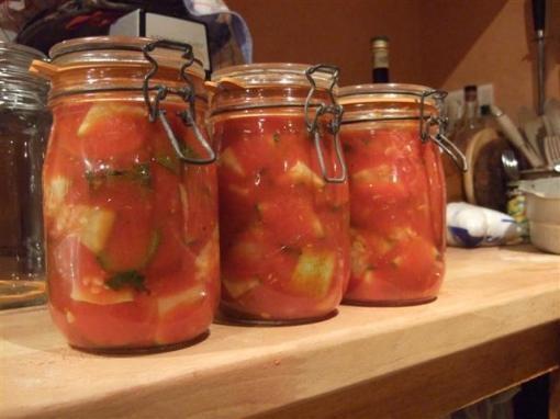 Conserve de courgette tomates - Conserve de fruits sans sterilisation ...