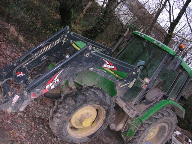 vente aux encheres le 1 08 tracteur a bras john deere 6210. Black Bedroom Furniture Sets. Home Design Ideas
