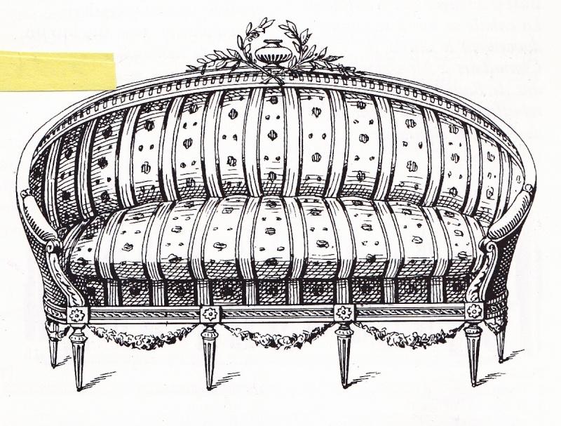 un canap ancien. Black Bedroom Furniture Sets. Home Design Ideas