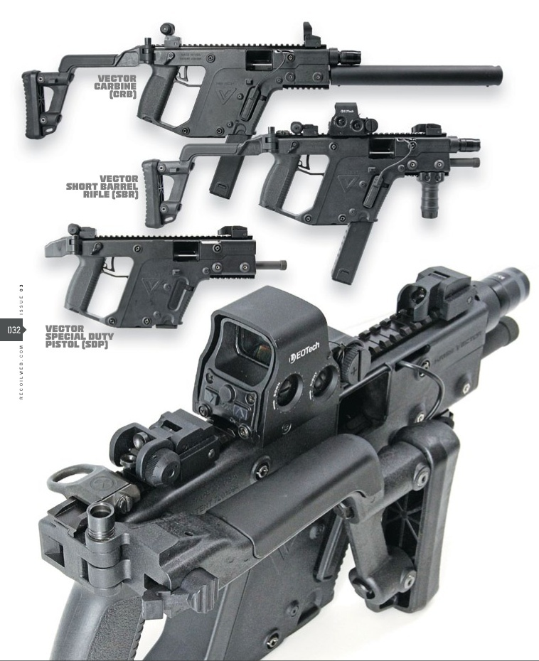 kriss vector featured in recoil magazine