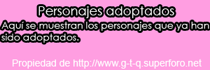Personajes adoptados